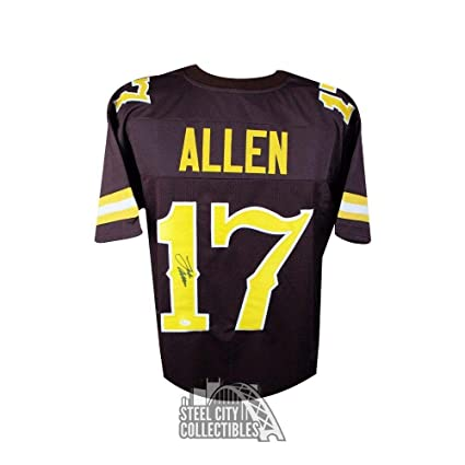 quality design ffb44 e1919 Josh Allen Autographed Jersey - Custom Brown Football COA ...