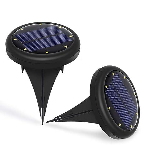 Lampade Solari Da Giardino Amazon.Jirvyuk Luce Solare Sepolto Luci Di Terra 2 Pezzi Lampade Solari Da Esterni Impermeabile Luci Solari Da Giardino Per Esterno Scala Paesaggio Bianco