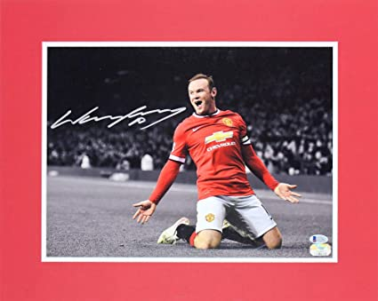c953f7946b13 Manchester United Wayne Rooney Authentic Autographed Signed 11x14 Matted  Photo Bas  E37861
