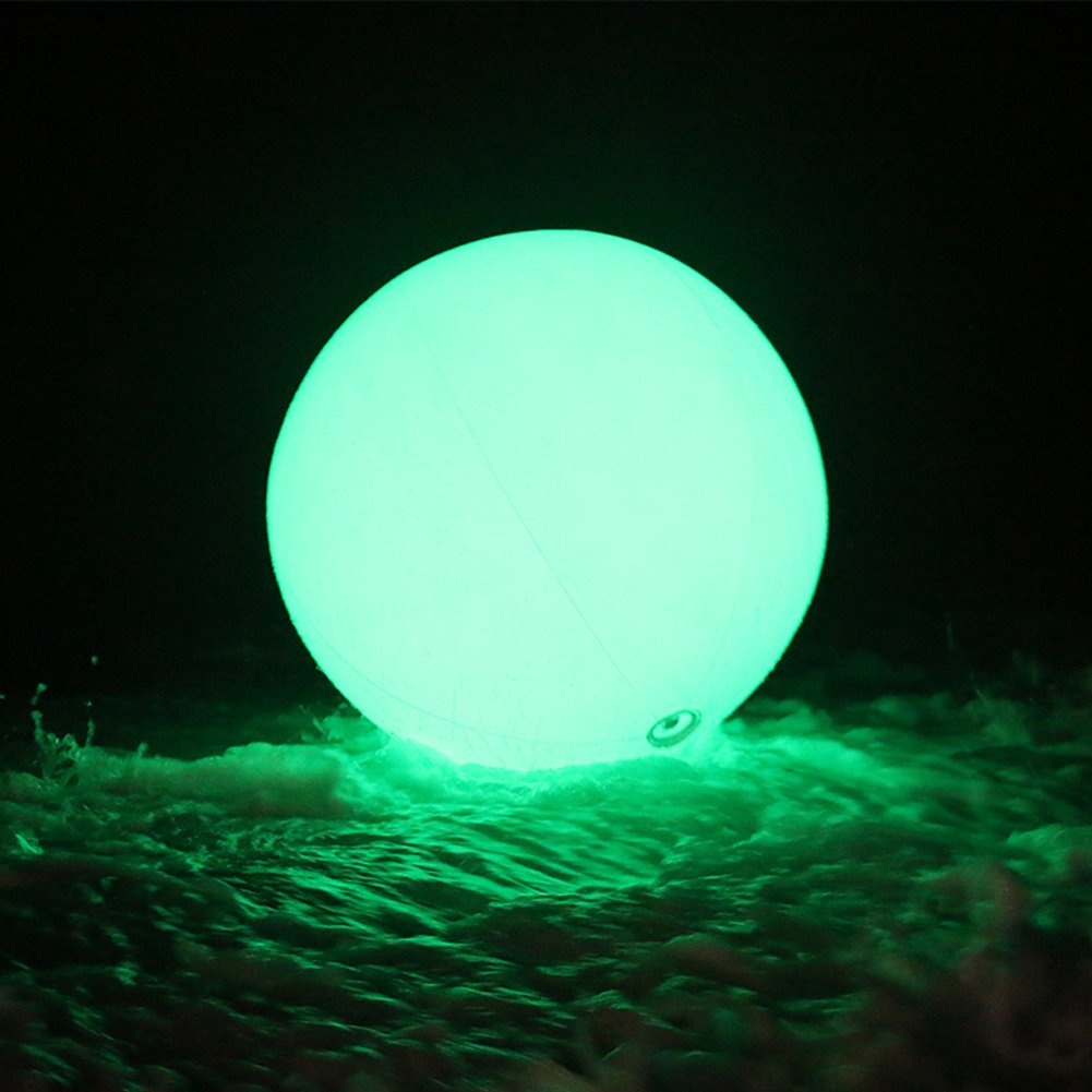 Sayok 23.6'' Inflatable Beach Ball PVC Lights Ball LED Balloon Glow in The Dark Toy with Color Changing Lights | 7 Modes | Great for Water Floating Lights/Party/Wedding/Event/Pool/Beach by Sayok