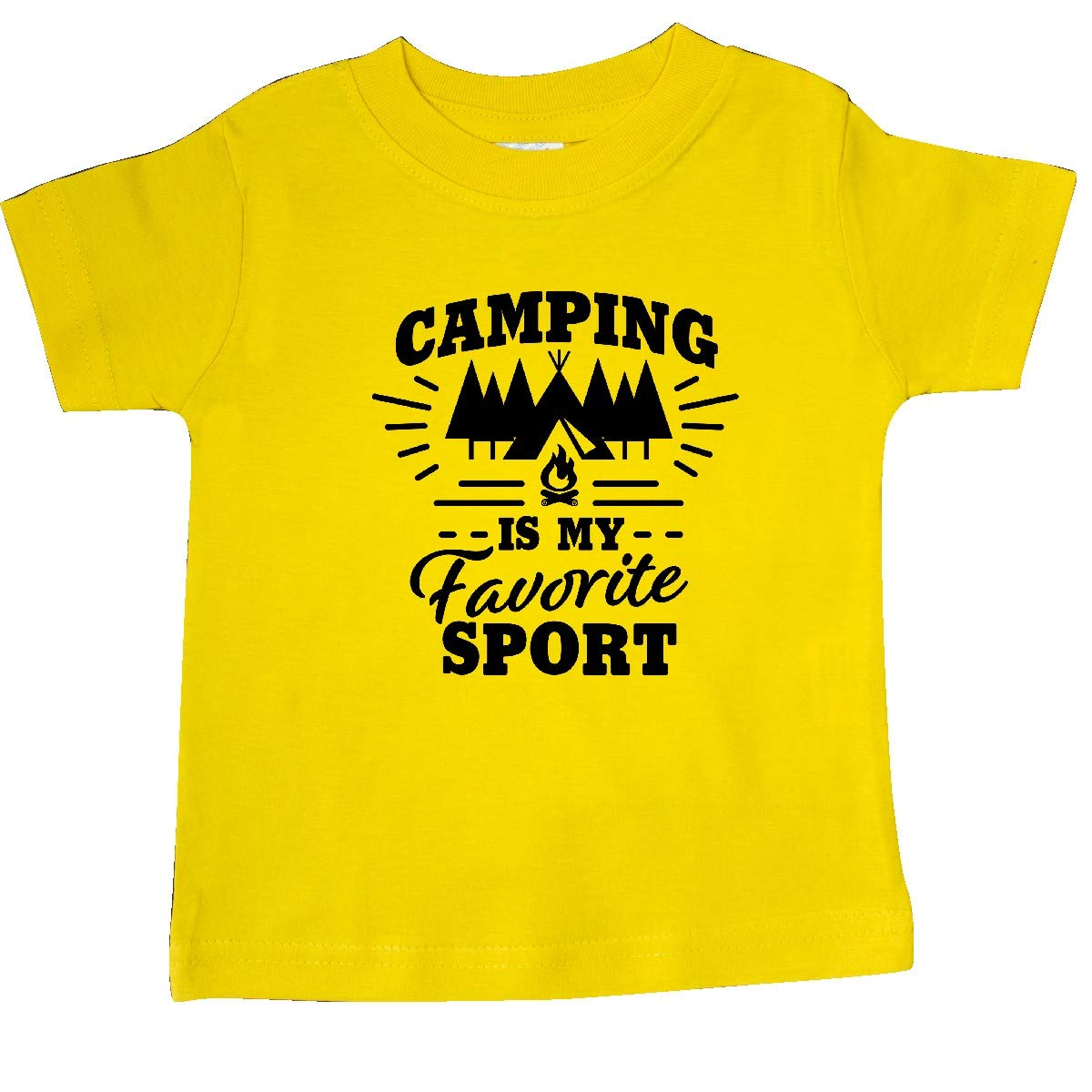 inktastic Camping is My Favorite Sport with Tent and Trees Baby T-Shirt