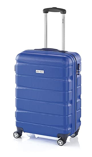 Double2 maleta JohnTravel 70 cm, cuatro ruedas dobles, ABS (Azul): Amazon.es: Equipaje