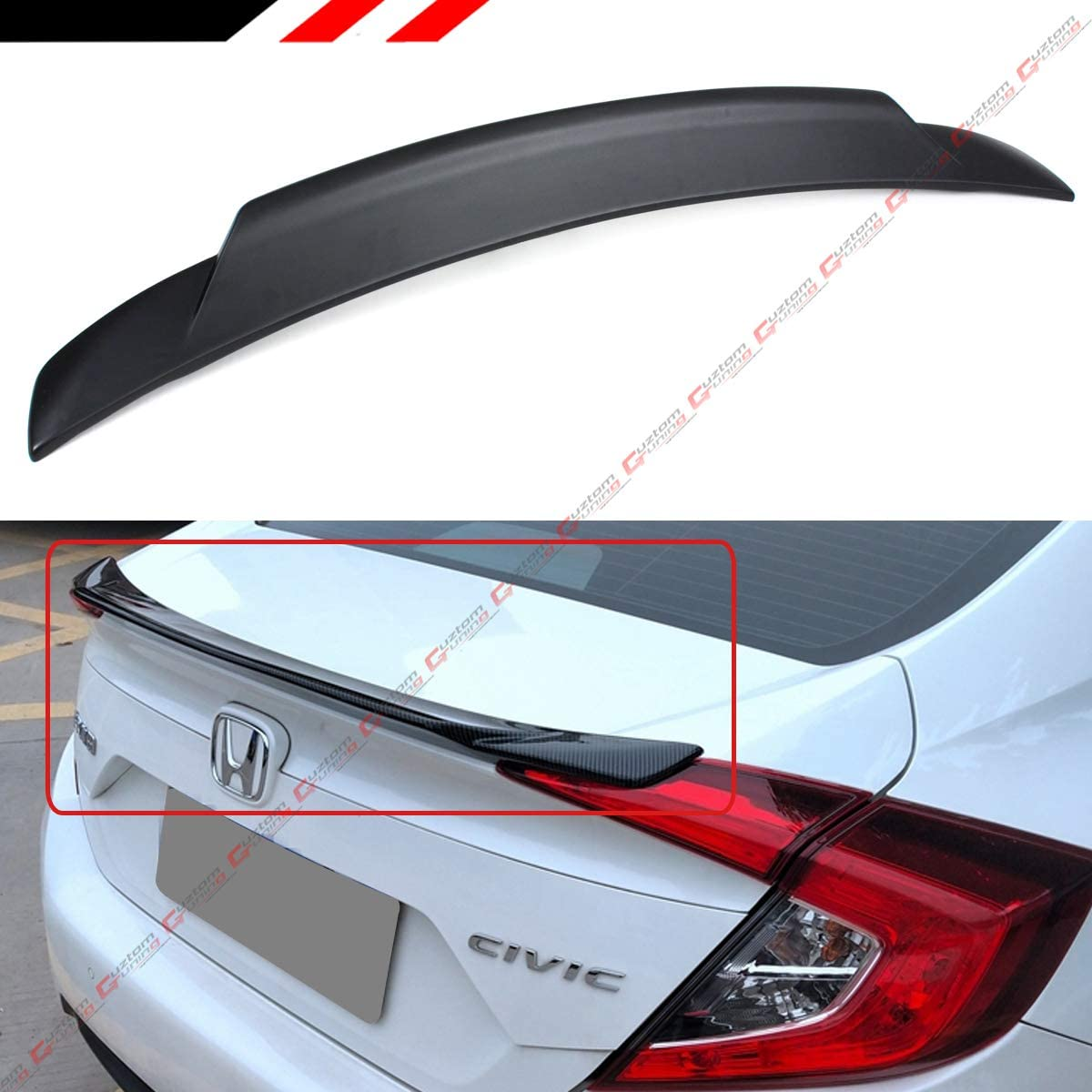 2016-2018 Honda Civic 2 Door Coupe Painted Factory Style Rear Spoiler Wing NEW