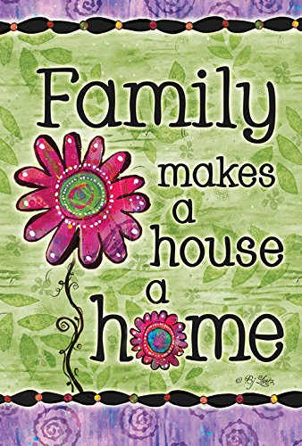 Toland Home Garden Family Home 12.5 x 18 Inch Decorative Colorful Spring Summer Flower Love Double Sided Garden Flag