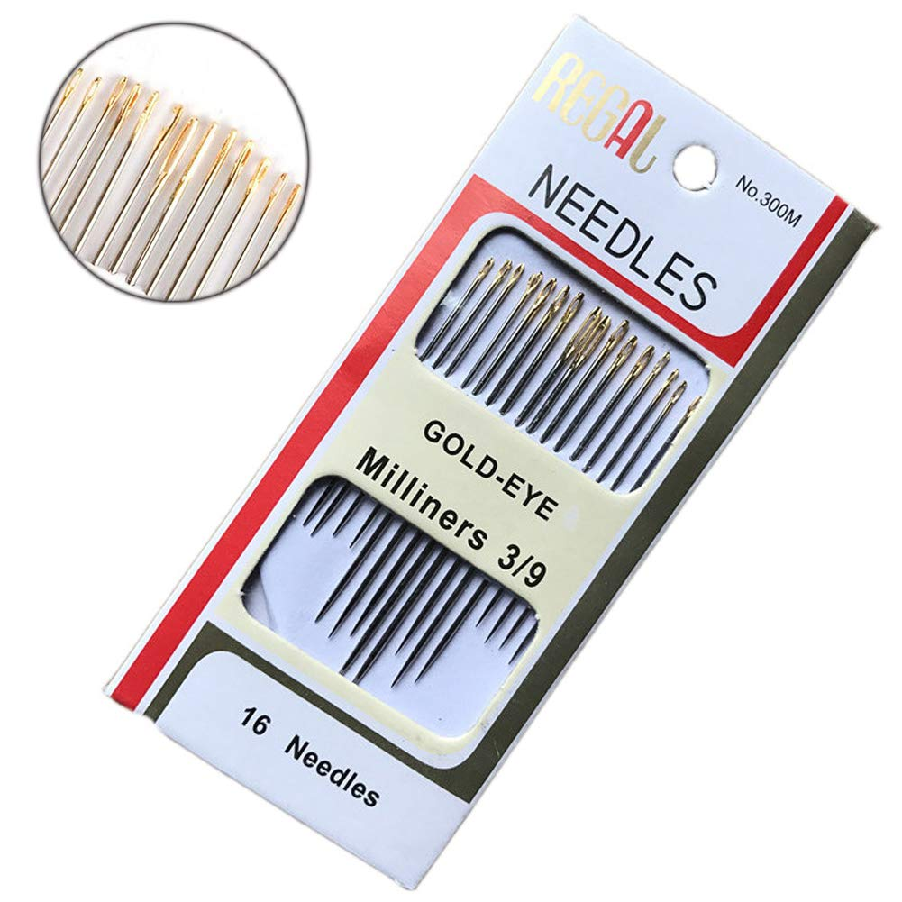 Embroidery Knitting Sewing Needles Set- 16 Pieces Steel Yarn Embroidery Needles Milliners 3/9 YIFEI YF-ZK001-ZO
