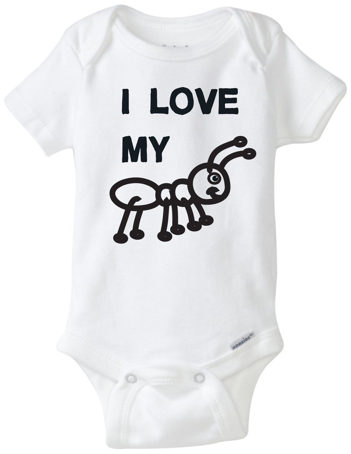 BLAKENREAG I Love My Aunt Funny Baby Onesie Baby Boy Girl Clothes Bodysuit (12 Month)