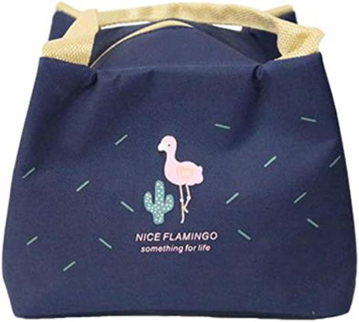 Thermal Portable Picnic Food Storage Camp Lunch Bag Flamingo Pattern