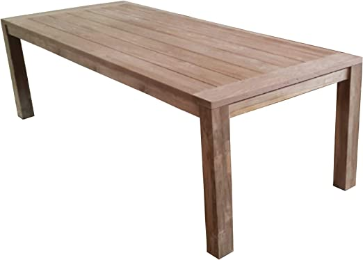 Moia Spa Table de Jardin en Teck recyclé 250 x 100 cm ...