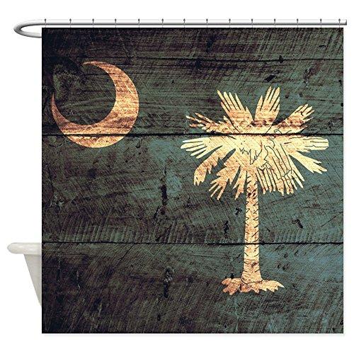 South Carolina Printed Curtain - CafePress Wooden South Carolina Flag3 Decorative Fabric Shower Curtain (69