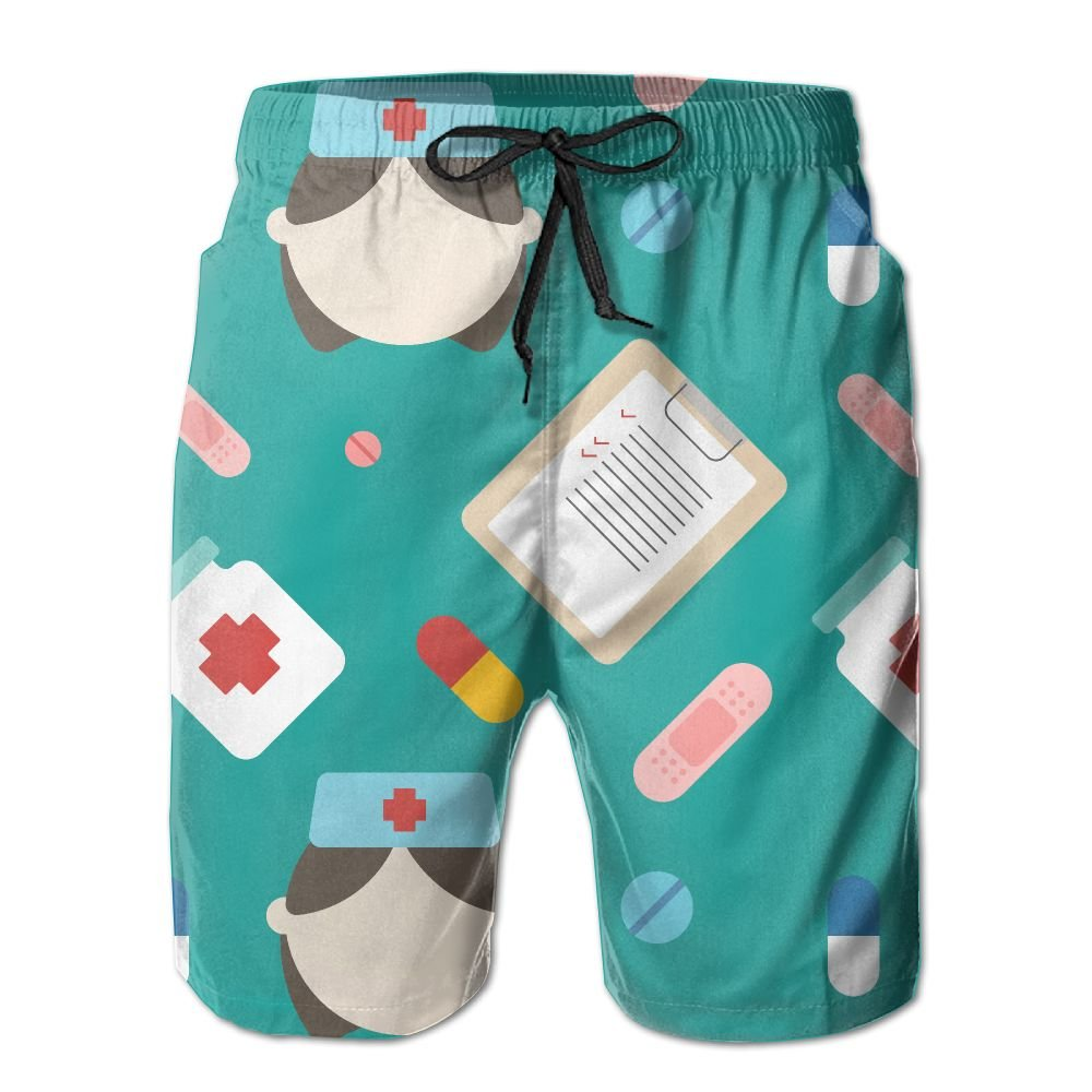 Medical Shading Art Summer Casual Style Adjustable Beach Home Sport Shorts