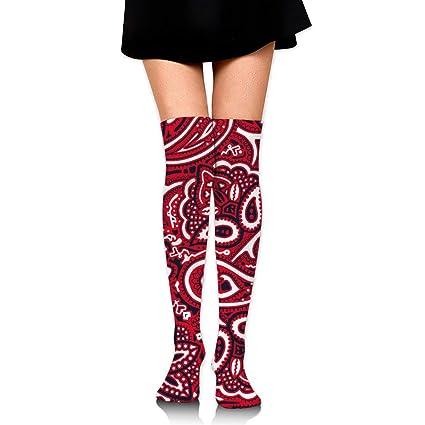 a62518481 Amazon.com: MFMAKER Womens Spring Fall Winter Over Knee Leg Warmer Thigh  High Tube Boot Socks Girls Leggings Paisley Bandana Stockings: Home &  Kitchen