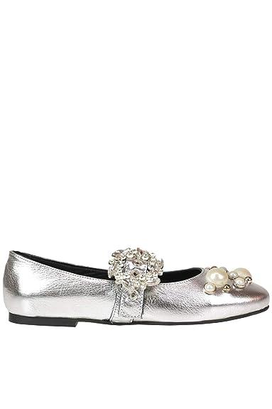 e0f342a993b6c Cardiff Damen MCGLCAB000005068E Silber Leder Ballerinas  Amazon.de ...