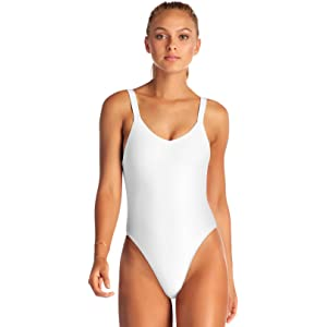 a6e79d3dd8afc Vitamin A Women's Leah Low Back Over The Shoulder One Piece Swimsuit  Swimsuit