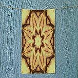 SOCOMIMI Swim Towel Decor Trippy Ethnic Thai Mandala Motif with Dirty Grunge Smear and Rough Stains Super Soft