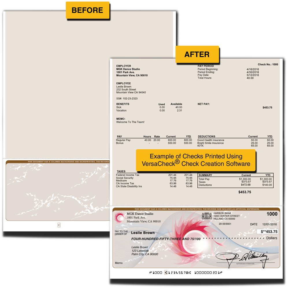 ValueChex Check Paper, Business Check On Bottom, Secure Tan Prestige, 2000 Count (VS11TP-3256) by ValueChex (Image #2)