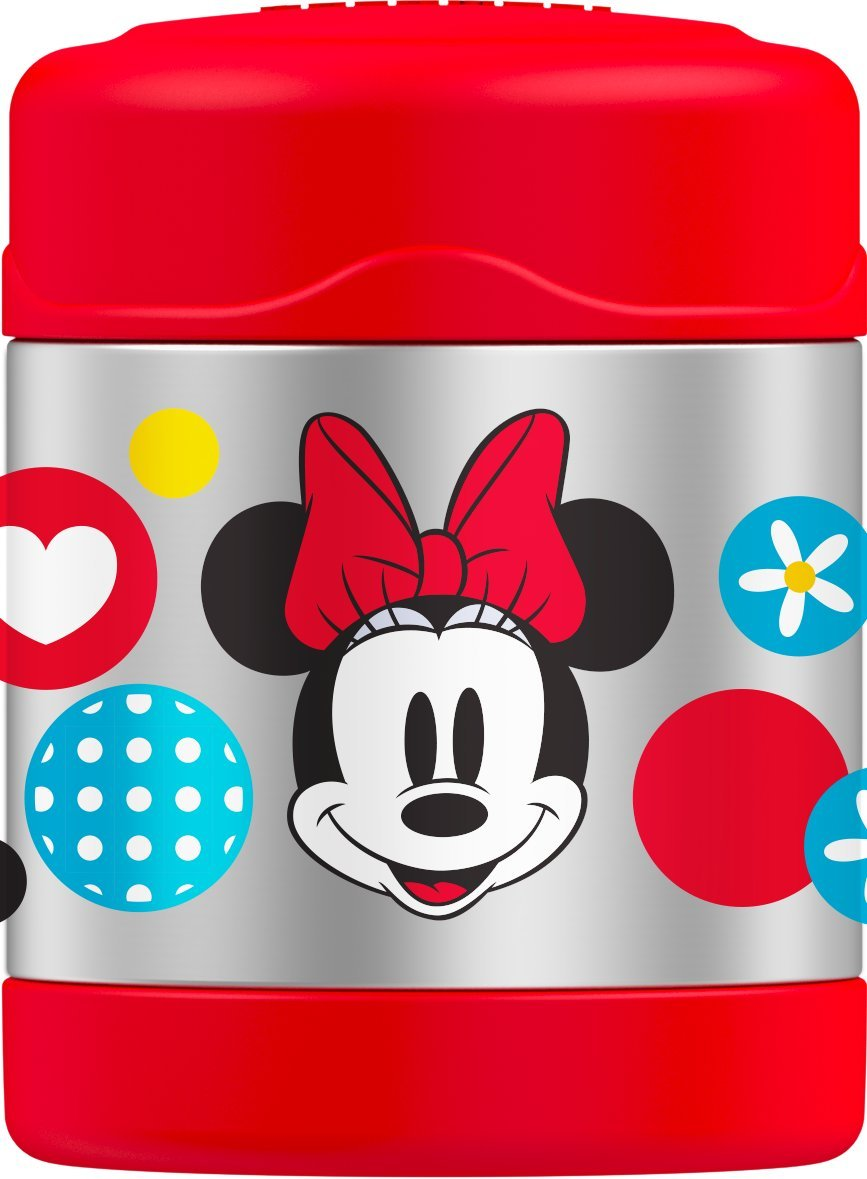 Thermos Funtainer 10 Ounce Food Jar, Minnie Mouse, Colors and Designs May Vary