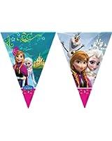 Disney La Reine des neiges Fille Guirlande à fanions - bleu
