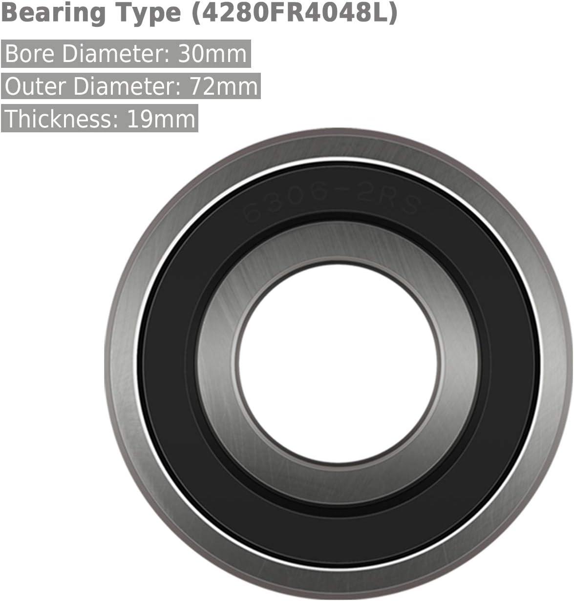 Yoursme Front or Rear Wheel Bearing Replaces Polaris Part # 3514699 for Polaris RZR XP 1000 14-up 2PCS