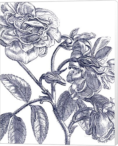 Belle Fleur I Light Crop by Sue Schlabach Canvas Art Wall Picture, Museum Wrapped, 24 x 30 ()