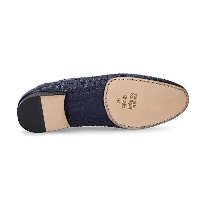 Roberto Botticelli Mocasines de Otra Piel Para Hombre Azul Azul, Color Azul, Talla 41 EU: Amazon.es: Zapatos y complementos