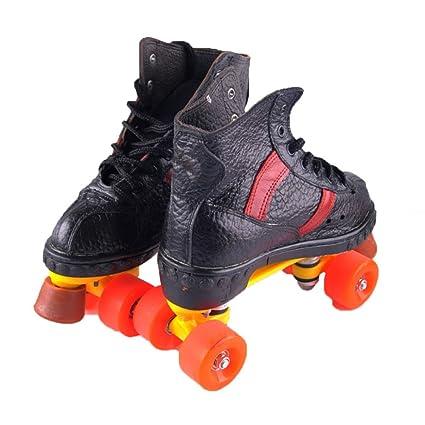 MLSS LI Patines De Doble Fila Patines De Cuatro Ruedas Zapatillas De Skate para Adultos Patinaje