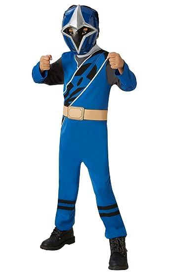 Rubies Disfraz oficial de Power Rangers, Ninja Steel – Disfraz de Ranger azul para niños pequeños, 3 – 4 años