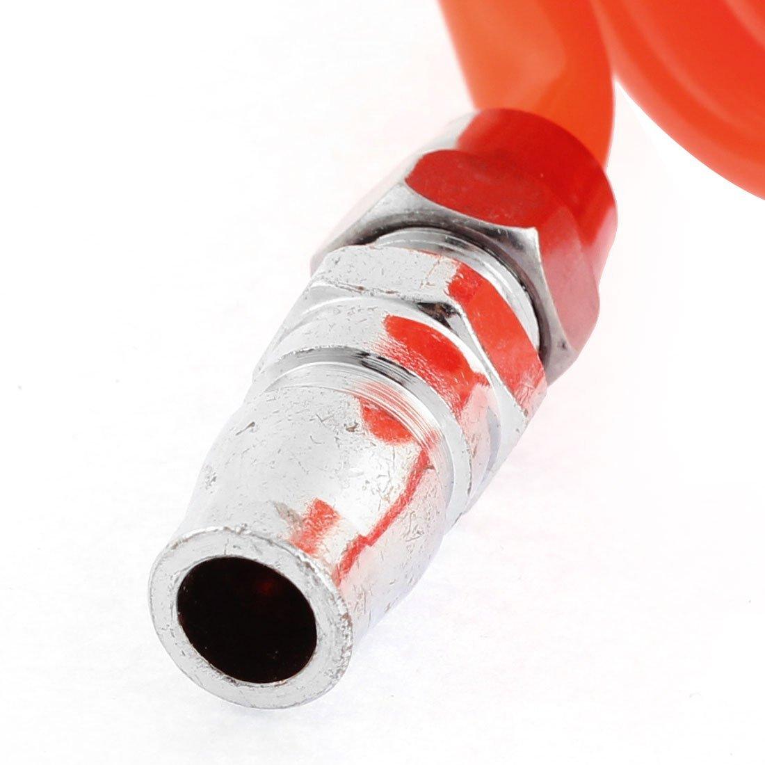 Metal DealMux a15121100ux0017 3 m de largo 8 mm x mm poliuretano Manguera en espiral 5 de aire del tubo 0,2 Orange