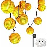 Solar LED Lanterns String Lights, ALED LIGHT 18.1Ft 5.5M 30 LED Waterproof Outdoor Decorative Stringed LED String Lights…