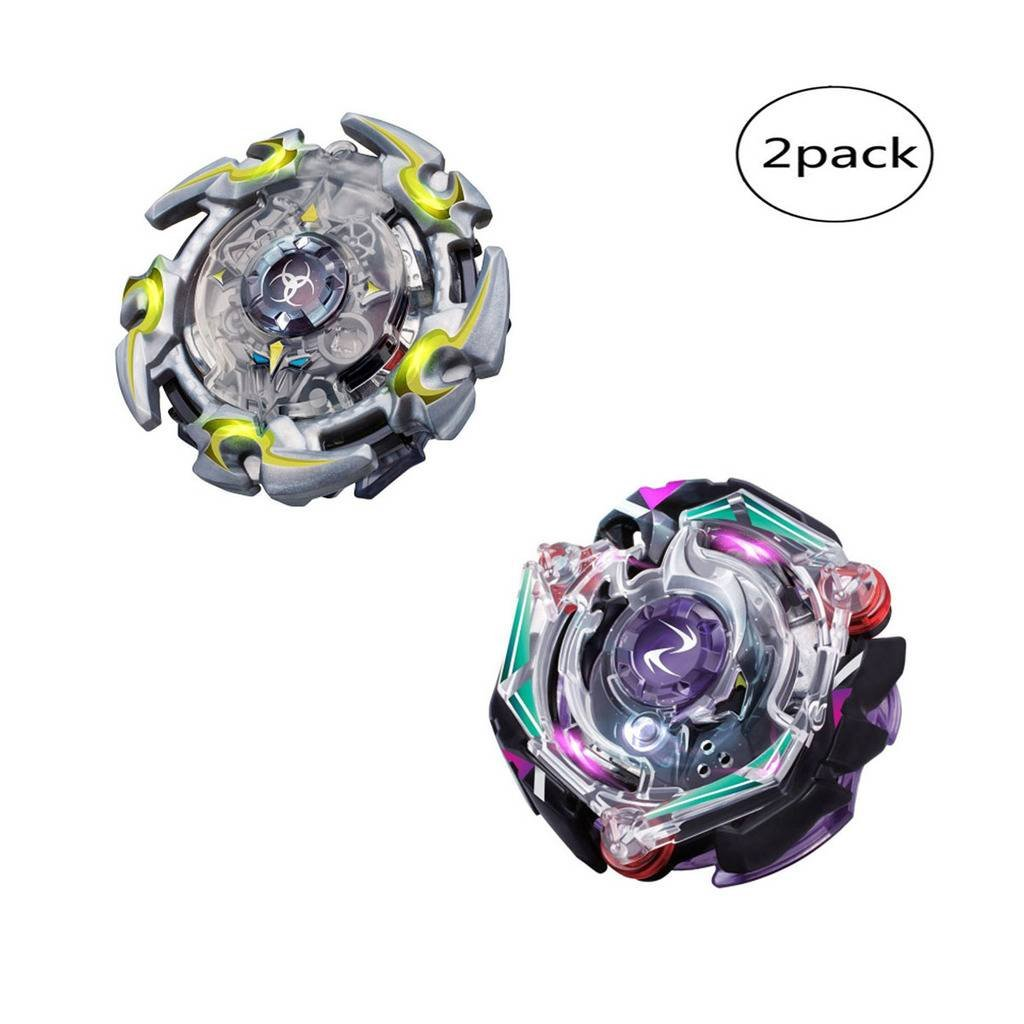 WenJie [2 Pack] Beyblade Burst - Personally Assemble to Improve Your Child's Manual Ability - Stamina Type - 2 X Combat Combination ( 2 Beyblade + 2 Launcher ) - b74+b82