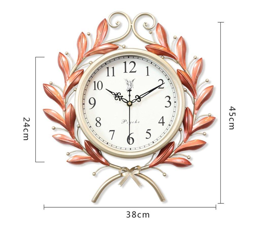 GRJH® ヨーロッパの時計、時計の壁時計リビングルームの寝室ホーム北欧の装飾クリエイティブアートサイレント時計38x45cm、45x55cm クリエイティブファッションシンプル ( 色 : ローズゴールド , サイズ さいず : 38x45cm ) B07CMKXJY7 38x45cm|ローズゴールド ローズゴールド 38x45cm