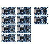 SODIAL(R) 10Pcs 5V mini USB 1A 18650 TP4056 Lithium Battery Charging Board With Protection Charger Module
