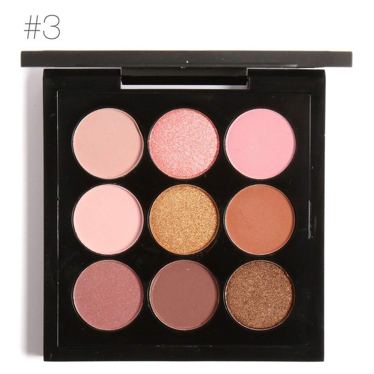 Liobaba 9 Colors Makeup Eyeshadow Palette Waterproof Multicolor Eyeshadow Compact Long-lasting Eye Makeup Palette Makeup Tool