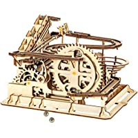 Hand Cranked Marble Run Wooden Model Kits Assembly 3D Wooden Puzzle Mechanical Model Kits With Balls for Teens and…