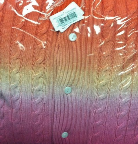Ralph Lauren Jamaica Ombre Cable Knit Decorative Pillow
