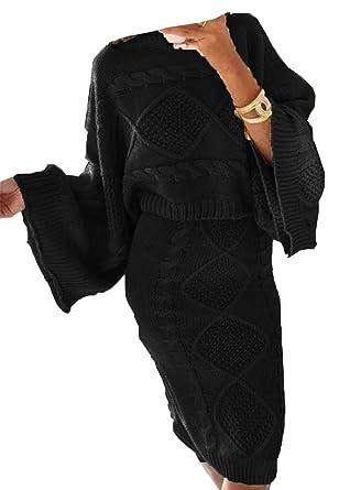 4424121046275f Islander Fashions Ensemble de Jupes de Costume tricotes pour Femmes