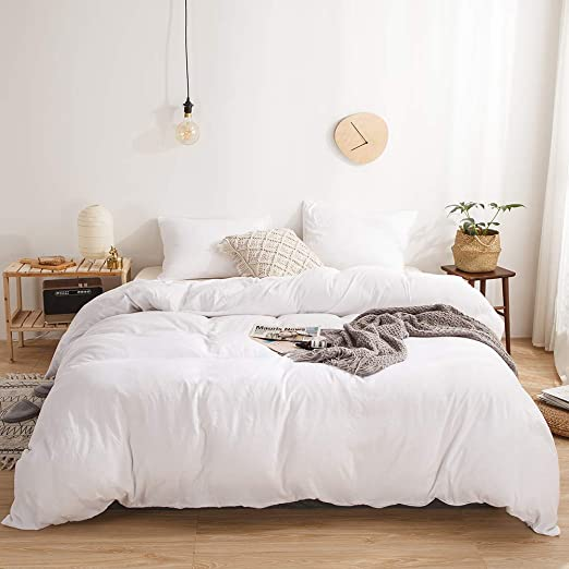 Amazon Com Move Over 3 Pieces White Bedding Solid White Duvet