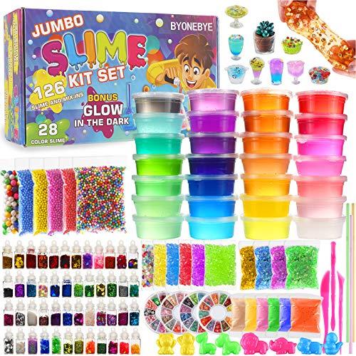126 Pcs DIY Slime Making Kit for Girls Boys