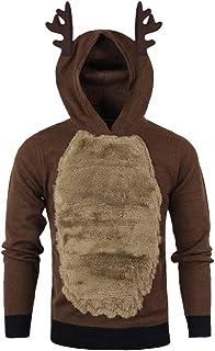 ZEZKT Sweats à Capuche Homme, Sweat-Shirts Noël Hoodie Pull Chaud Homme Sweatshirt Elk Costume Cosplay Fantaisie et Specialty Survêtements de Sport T-Shirt à Manches Longues Chemise Vest Blouse