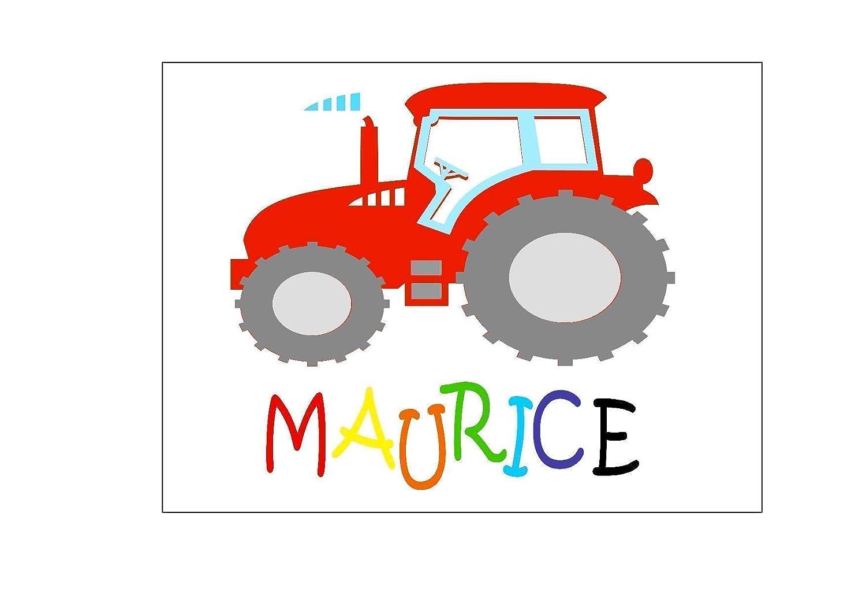 T/ürschild Kinderzimmer mit Namen personalisiert f/ür Jungen Traktor individuelles Namensschild f/ür das Kinderzimmer 20 cm x 15 cm