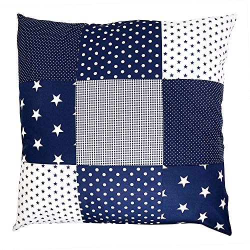 Pillow Checkered (Soft Cotton Nursery Throw Pillow Cover by ULLENBOOM | Polka Dot/Star/Checkered | Decorative Euro Sham | 26