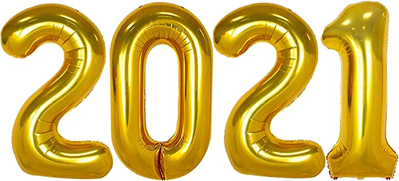 Amazon Com 2021 Balloons Gold For New Years Eve Decorations Large 40 Inch New Years Balloons For New Years Eve Party Supplies 2021 Nye Decorations 2021 Happy New Year