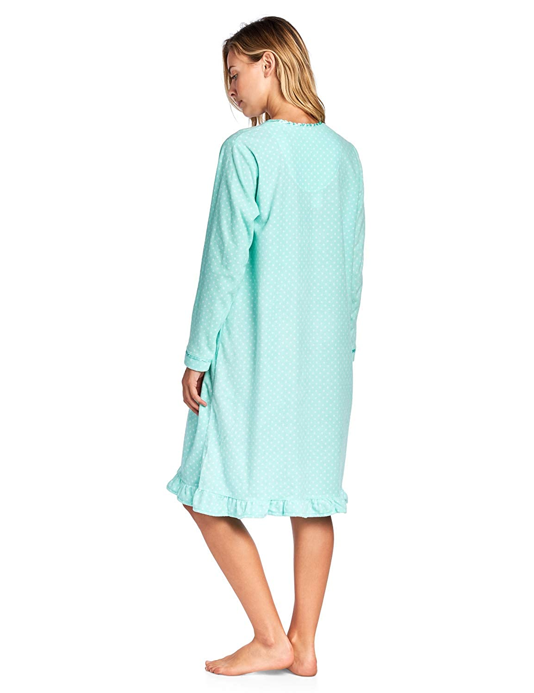 Casual Nights Women s Cozy Long Sleeve Fleece Nightgown at Amazon Women s  Clothing store  c106d1459c
