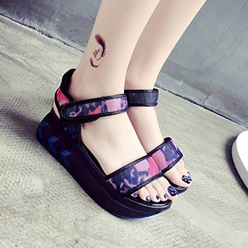 RUGAI-UE Magic Summer Sandals zapatos planos Gules