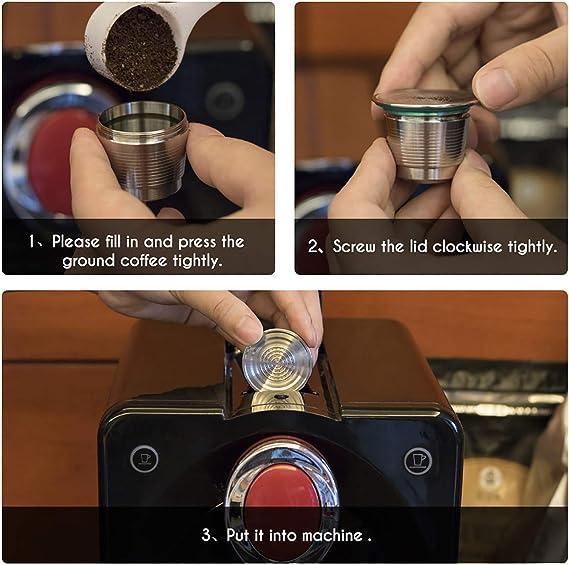 KONESKY - Cápsulas de café (acero inoxidable, recolectables, con ...