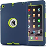 iPad Mini Case, iPad Mini 2 Case, iPad Mini 3 Case, MAKEIT Dual Layer Hybrid Armor Protection Defender Case Cover for…