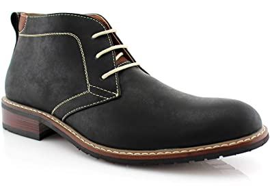 c4b70da7284f2 Ferro Aldo Devon MFA506008 Mens Casual Chukka Mid-Top Lace-Up Dress Boots