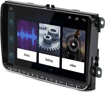 Radio de Coche Android 6.0 de 9 Pulgadas, Pantalla táctil capacitiva HD GPS, navegación, Bluetooth, USB, Reproductor ROM 1G RAM 16G para VW Passat ...