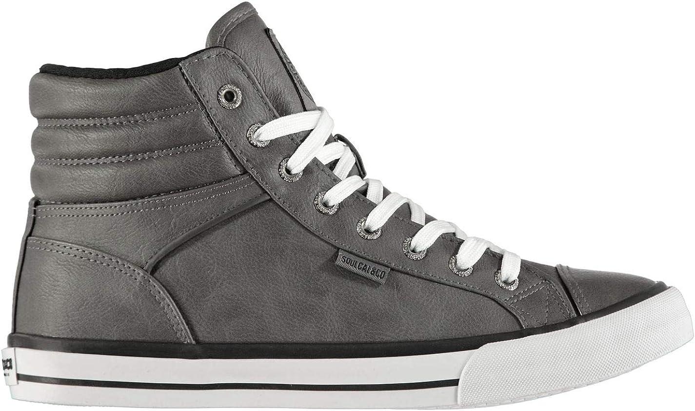 SoulCal Hombre Asti Hi Tops Zapatillas Cordones Zapatos Puntera Suela Robusta: Amazon.es: Zapatos y complementos