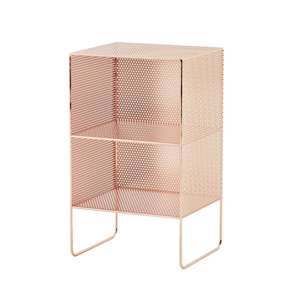 Pink 353064cm Rack Wrought Iron Multi-Layer Floor Magazine Shelf Bedroom Bedside Living Room Quilted Multi-Layer Storage Bookshelf (color   Pink, Size   35  30  64cm)