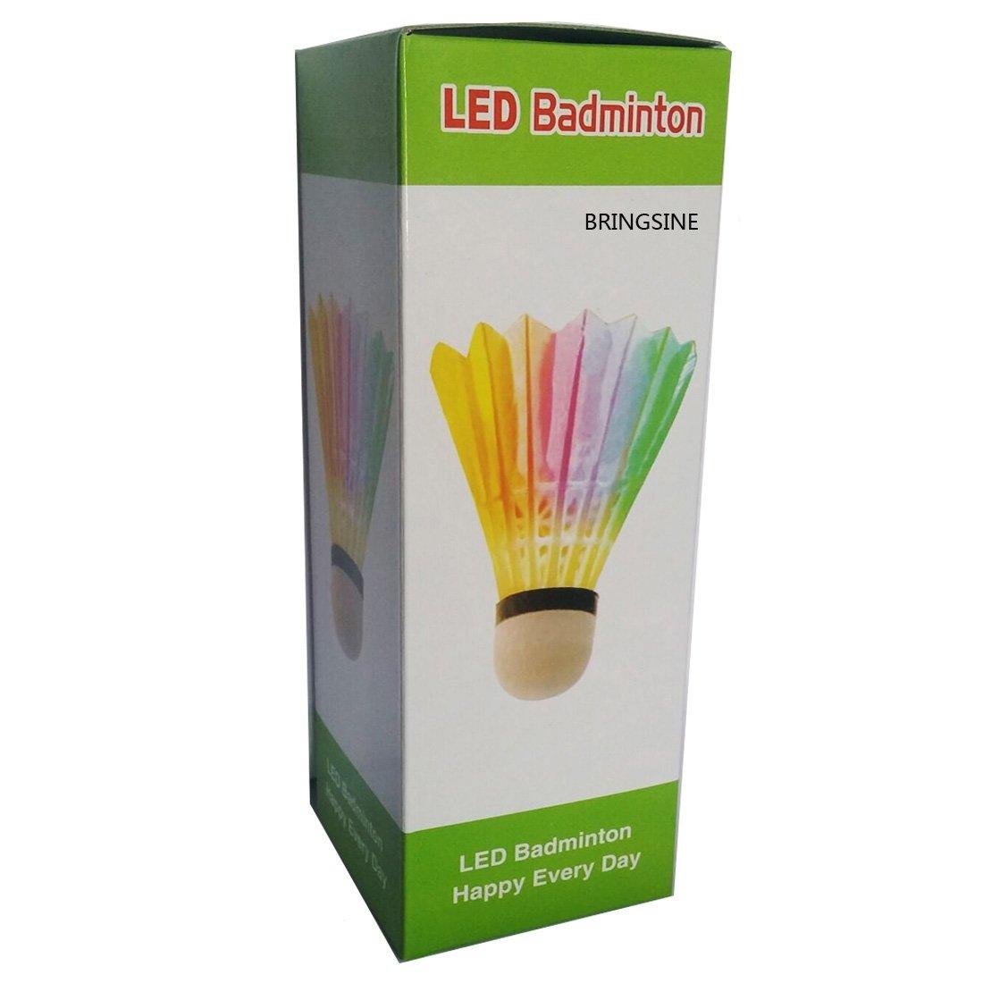 Farshop LED Badminton Shuttlecock Dark Night Glow Birdies Lighting for Indoor Sports Activities